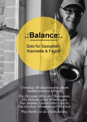 .:Balance:. Solo für Saxophon, Klarinette, Fagott & Flöte (Volker Dahms)