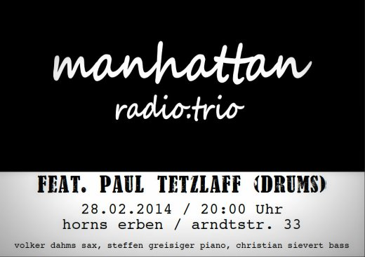 Poster m.r.t im Horns Erben 28.02.2014