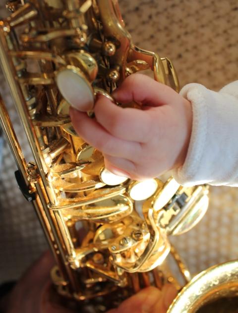 Mein kleines Wunder am Saxophon :-)
