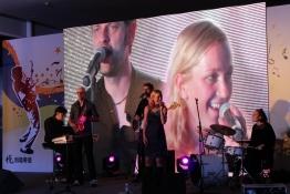 Multimedia-Bühne beim ersten Konzert in Nanjing