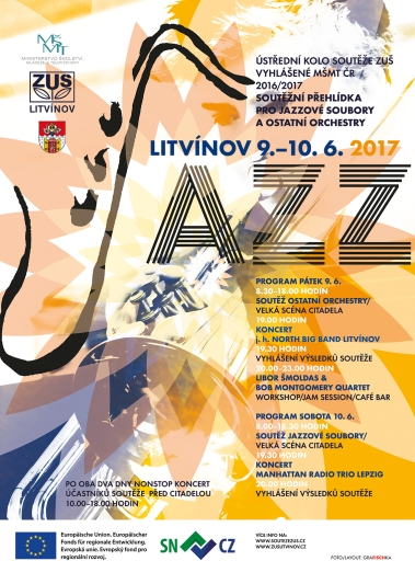 Plakat des Jazz Wettbewerb Litvinov