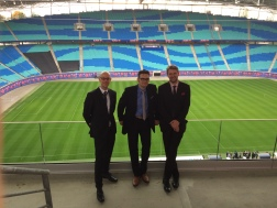 manhattan.radio.trio im Stadion von RB Leipzig